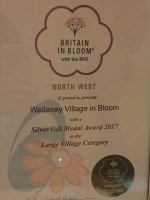 Britain in Bloom Certificate Silver Gilt t