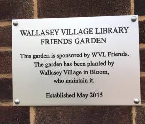 164 WV garden library plaque small